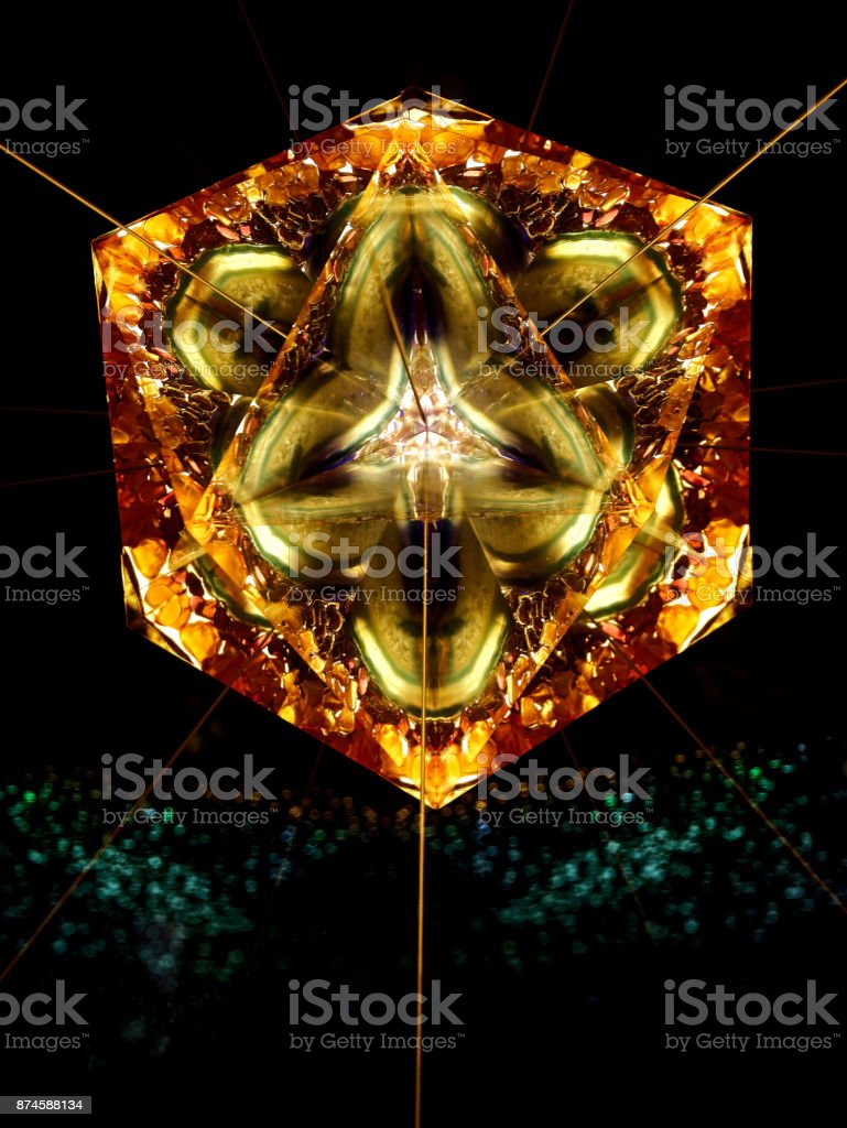 abstract kaleidoscope stock photo