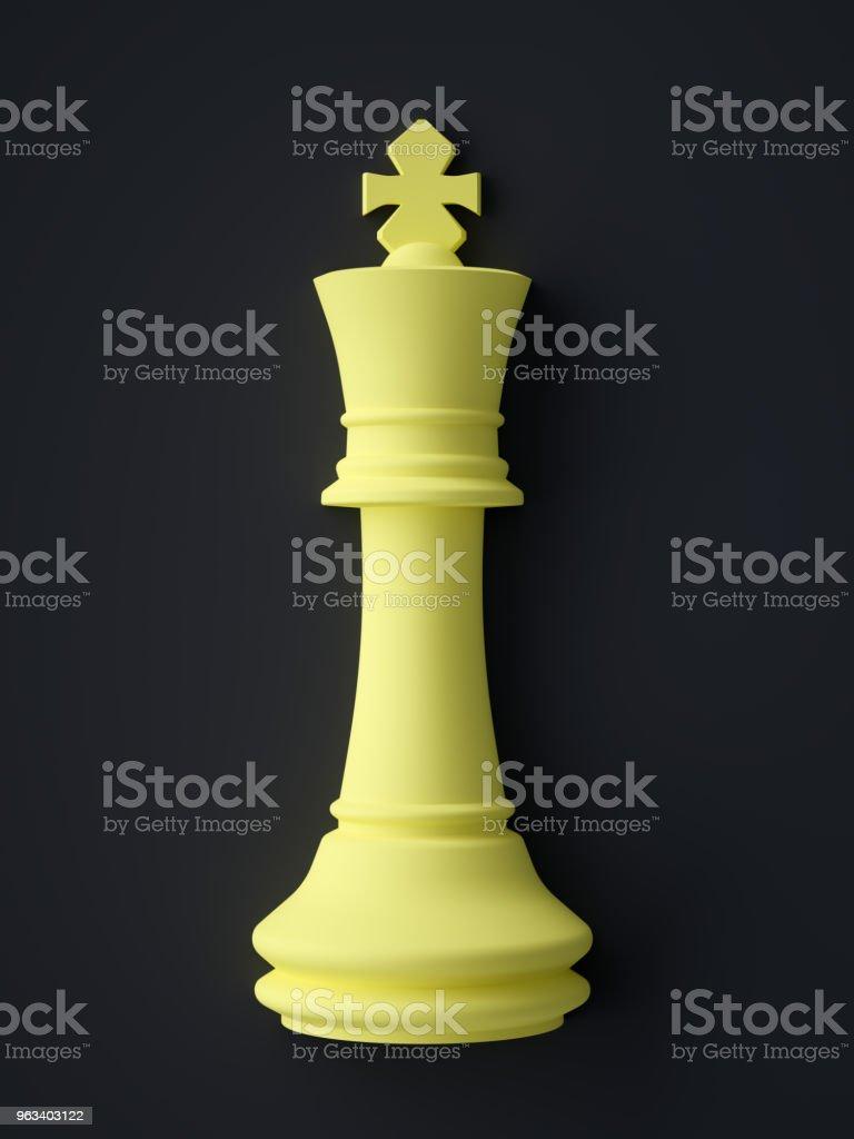 Abstrakcyjny symbol króla szachów - Zbiór zdjęć royalty-free (Szachy)