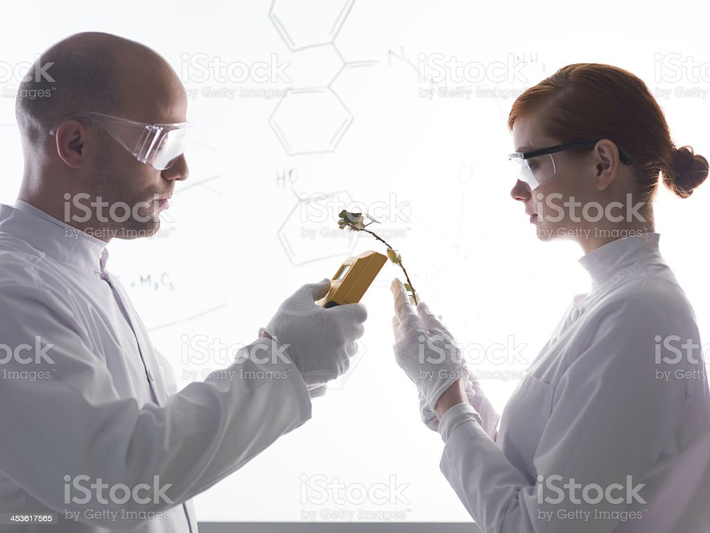 abstract laboratory experiment royalty-free stock photo