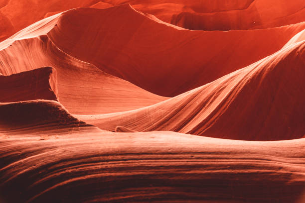 abstract landscape of antelope canyon - lower antelope canyon stock photos and pictures
