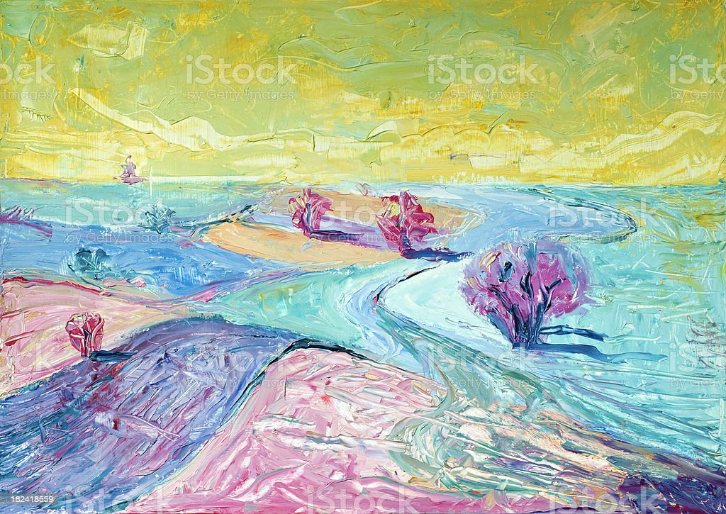 Abstract landscape royalty-free stock photo