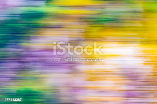 Colorful abstract landscape with blurred motion, Rudyerd Bay, Misty Fiords National Monument