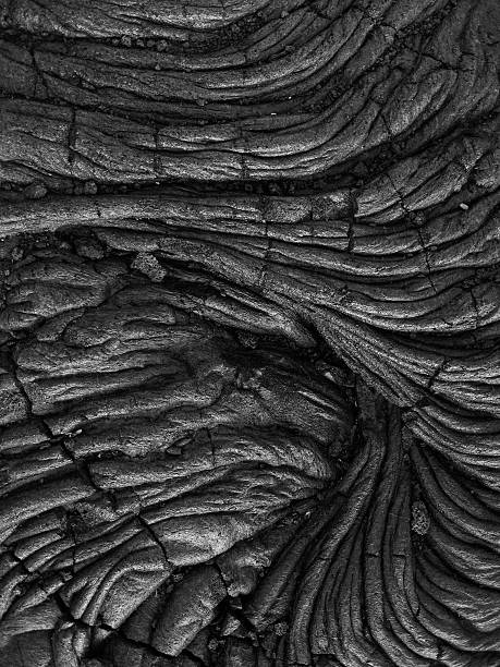 Abstract Lava Flow Hawaii Interesting patterns made by Cooled Solid Lava on Hawaii Big Island. lava stock pictures, royalty-free photos & images
