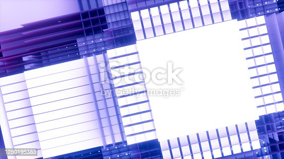 926309124 istock photo 3D Abstract Layered Slices Technology Background 1250195383