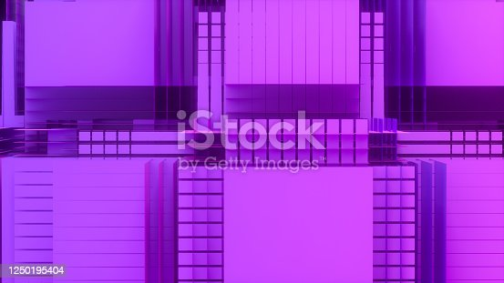 926309124 istock photo 3D Abstract Layered Slices Technology Background 1250195404