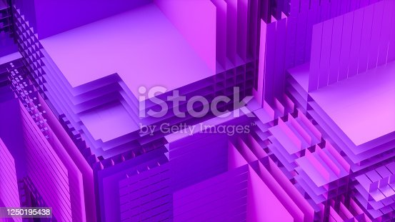 926309124 istock photo 3D Abstract Layered Slices Technology Background 1250195438