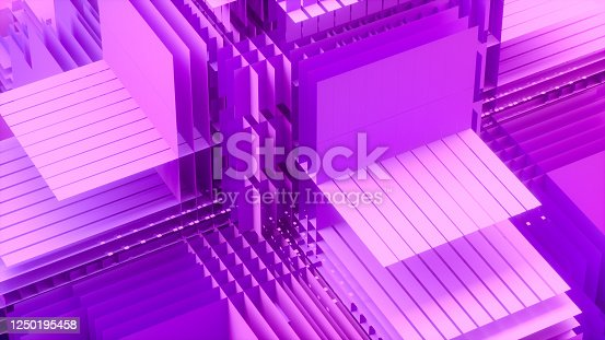 926309124 istock photo 3D Abstract Layered Slices Technology Background 1250195458