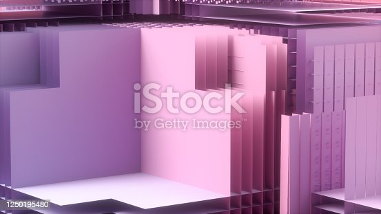926309124 istock photo 3D Abstract Layered Slices Technology Background 1250195480