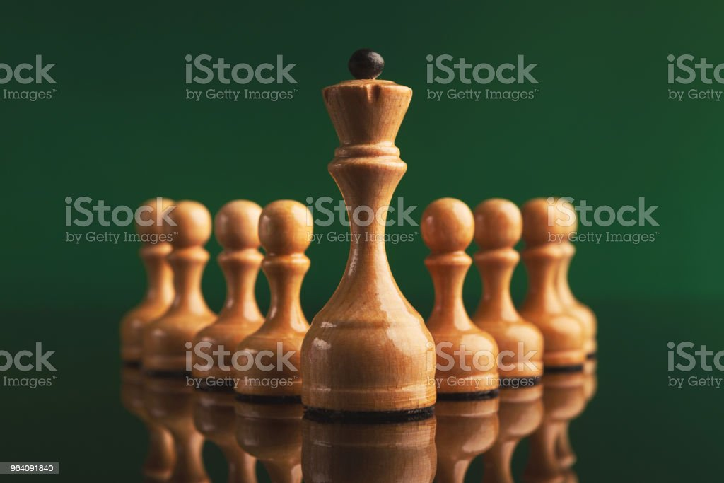 Abstract leadership business concept with chess - Royalty-free Abstract Stock Photo
