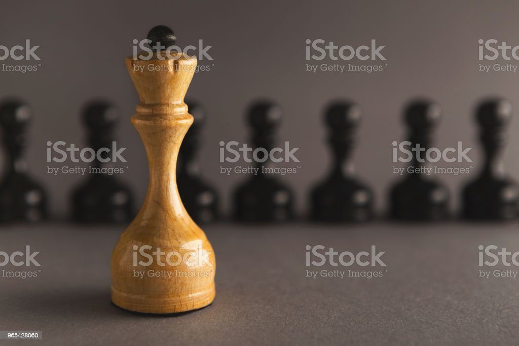 Abstract leadership business concept with chess royalty-free stock photo
