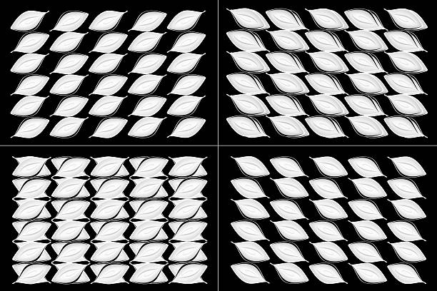 Abstract Leaf Patterns stock photo