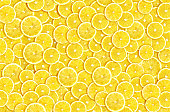 abstract lemon slices composition