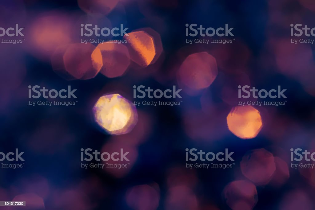 Abstract lens bokeh purple gold background stock photo