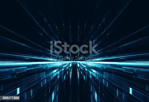 Abstract digital image suitable for science fiction, time travel, futuristic and technological concepts