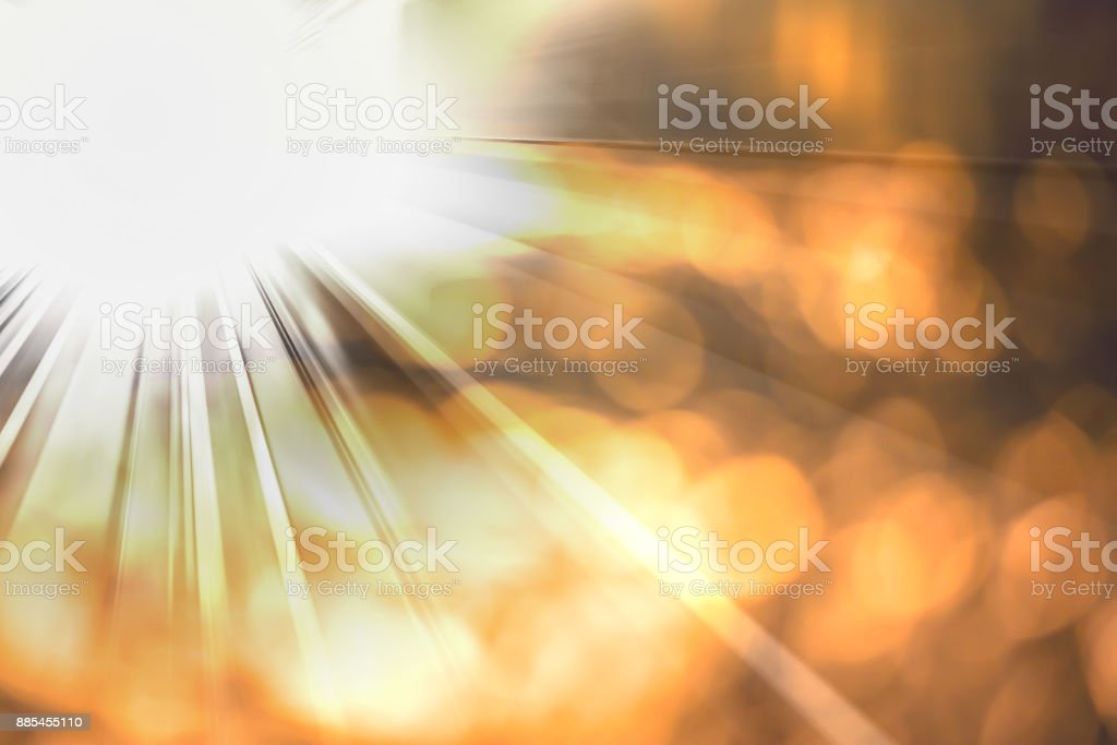 Abstract lens flares effect with light beam stock photo