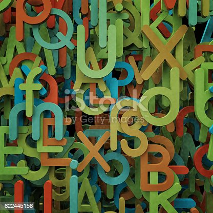 520660497 istock photo Abstract letters illustration. 622445156