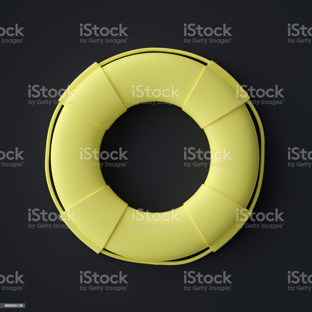 Abstract Life Buoy Symbol stock photo