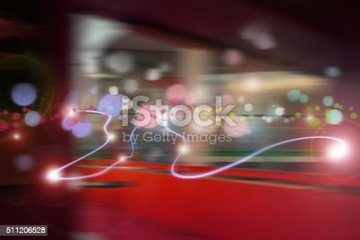 istock Abstract Light and data 511206528