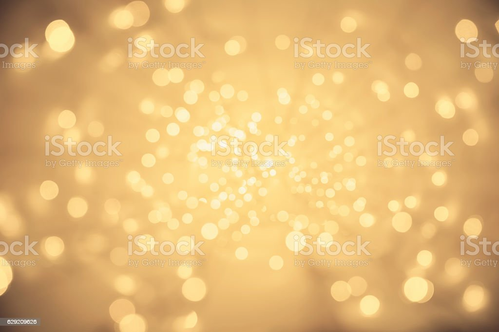 Abstract Light Background, Vanishing Point Perspective, Blurred Lighting Sparkles stock photo