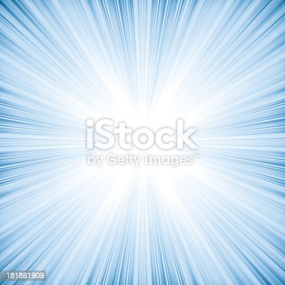 istock Abstract light blue background looks like explosion or bright star 181861909