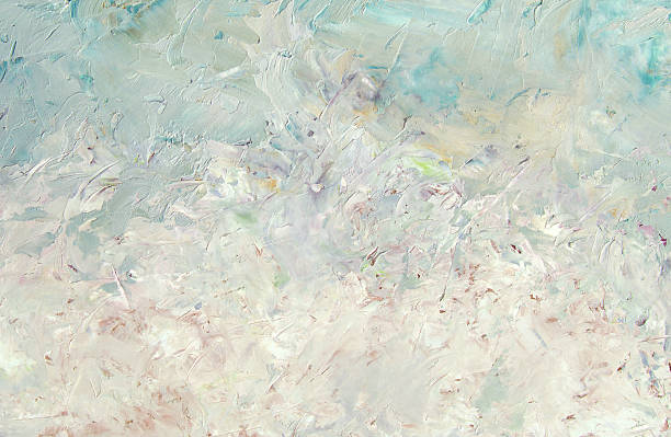 abstract light blue  oil painting background - impressionist painting stock photos and pictures