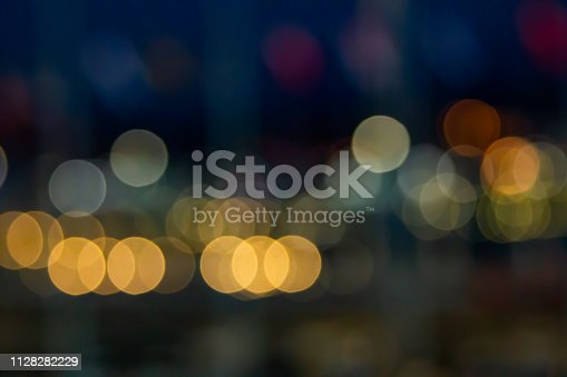 Abstract vintage Light circle colored Bokeh Background