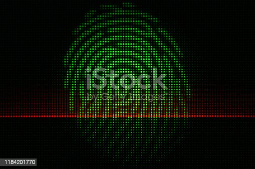 istock Abstract Light Dots Security Concept - Backgrounds Display LED Defocused 1184201770