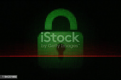 istock Abstract Light Dots Security Concept - Backgrounds Display LED Defocused 1184201850