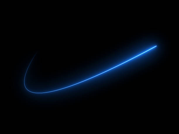 Abstract Light Effect Element Design on Black Background stock photo