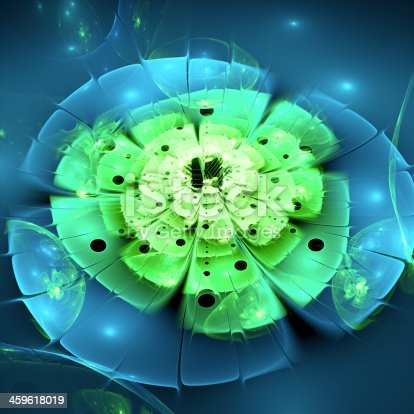 istock Abstract light fractal background 459618019