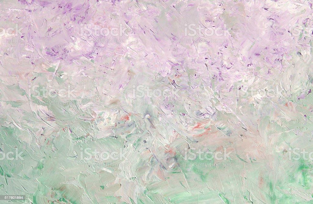 Sfondo Verde Chiaro E Viola Sfondo Di Pittura A Olio Fotografie