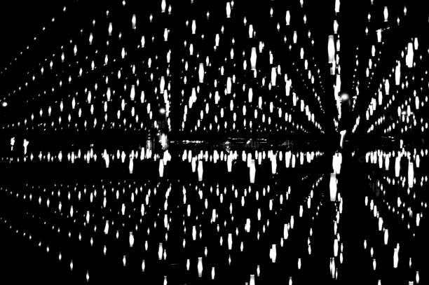 Abstract light installation stock photo