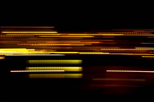 abstrakta ljuslinjer. - blue yellow band bildbanksfoton och bilder