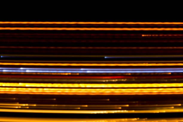 abstrakta ljuslinjer - blue yellow band bildbanksfoton och bilder