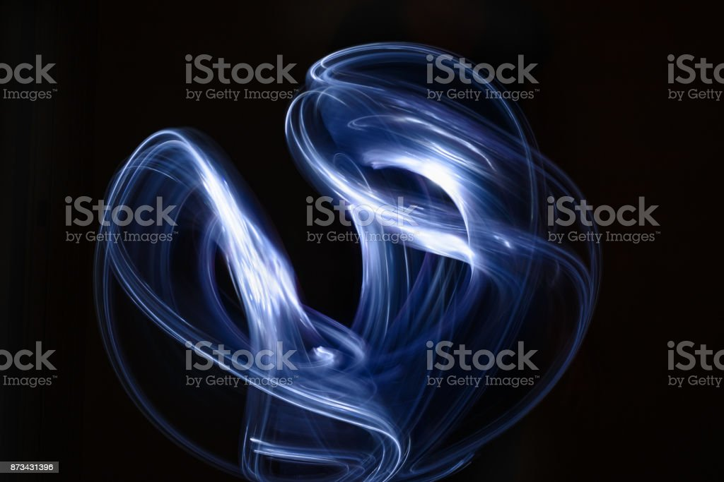 Abstract light ray on black background stock photo