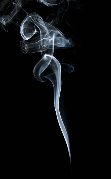 Abstract light smoke on dark background Abstract light smoke on a dark background incense stock pictures, royalty-free photos & images