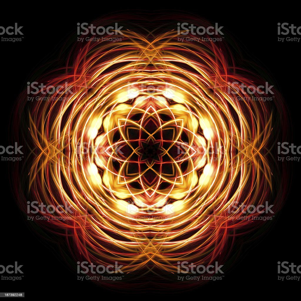 Abstract lights flower royalty-free stock photo