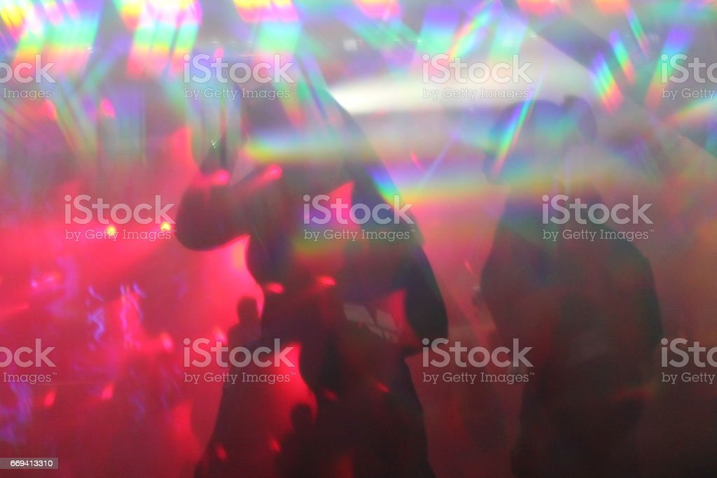 Abstract Lights Nightclub Dance Party Background And Lasers Royalty Free Stock Photo