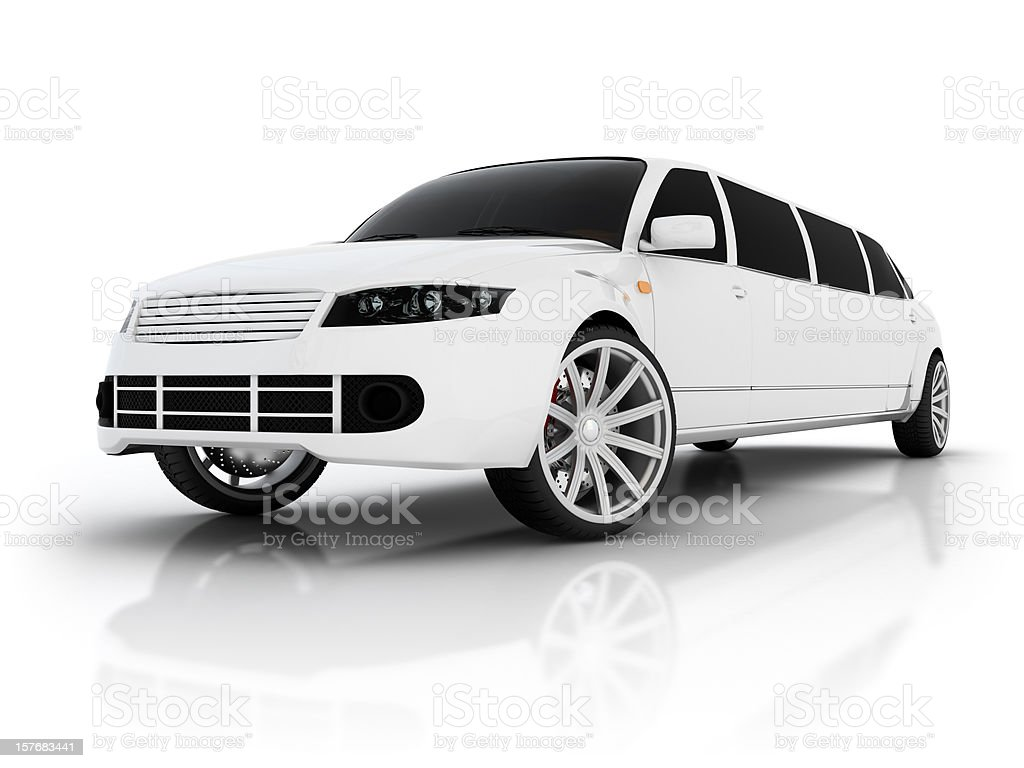 Abstract limousine stock photo