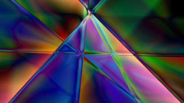 Abstract Linear Prism Background stock photo