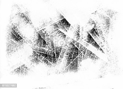 istock Abstract lined unpainted white paper background 875327682