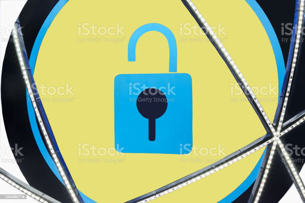 Abstract lock background stock photo