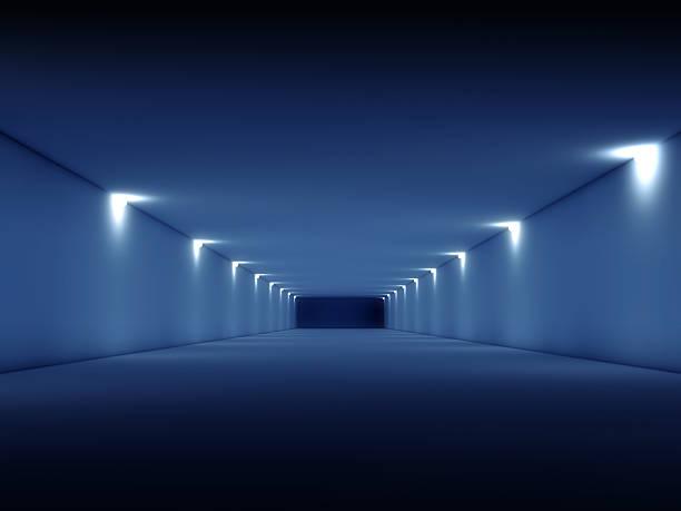 abstrato escuro interior vazio túnel longa 3d - descrição geral - fotografias e filmes do acervo