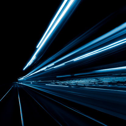Abstract city light trails