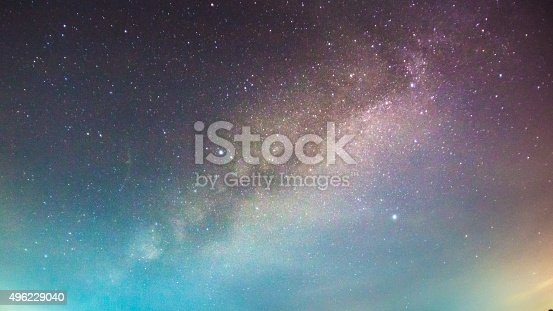 istock abstract long exposure of milky way in the night sky 496229040