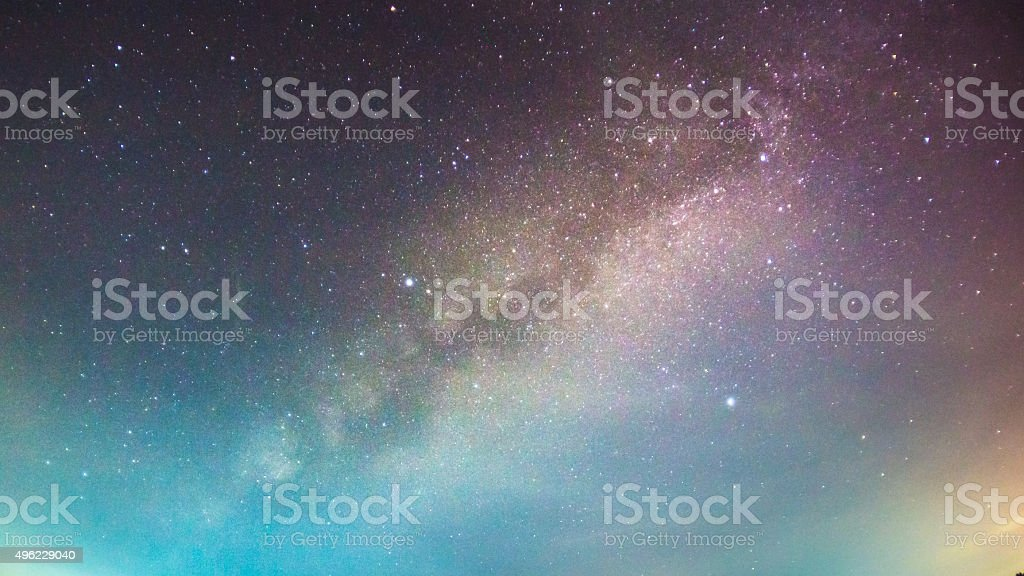 abstract long exposure of milky way in the night sky stock photo