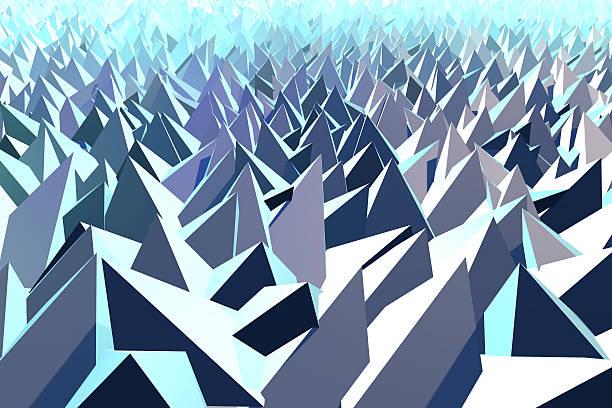 Fondo de tecnología abstracto pirámide formas - foto de stock