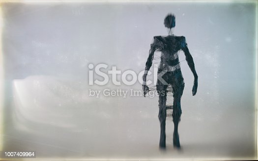 istock Abstract low poly figure 1007409964