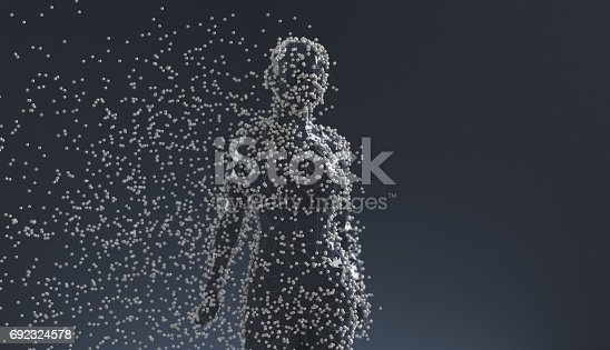 istock Abstract low poly figure 692324578