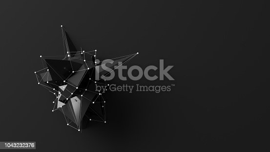 687269072istockphoto Abstract low poly object 1043232376